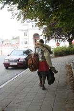 An interesting outfit spotted in Tournai, Belgium