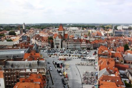 View from the Belfry. Tournai, Belgium