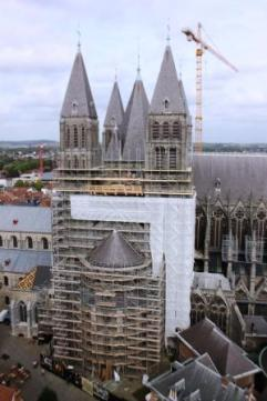 The cathedral in Tournai