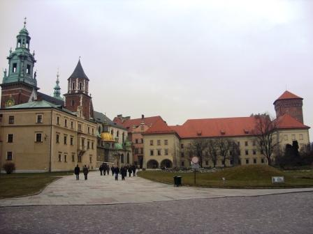 On the way to Wawel Royal Castle