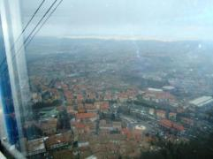 San Marino view from the cable car
