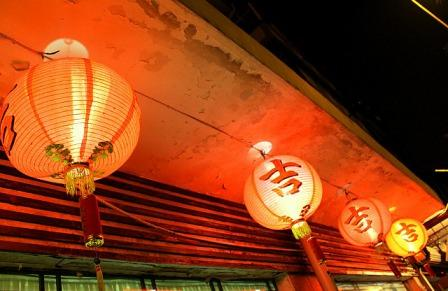 Lanterns at a local restaurant