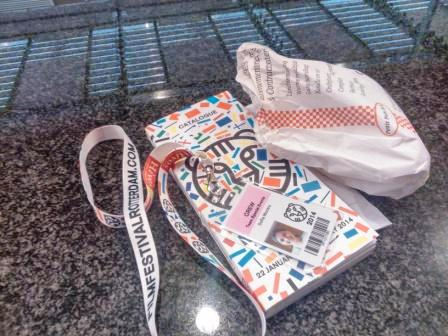 My badge, my catalog and my lunch