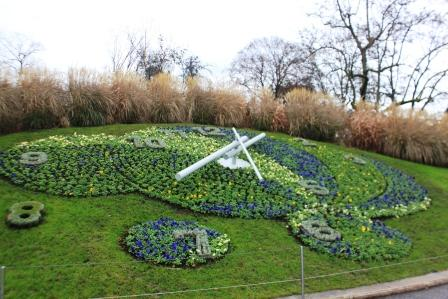 Flower Clock in the English Garden - tribute to Geneva's watch industry