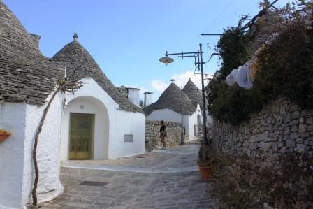 A narrow street in Alberobello