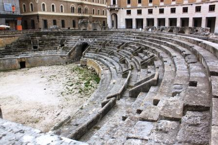 The Roman Amphitheatre, built in the second century AD