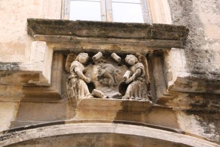 Baroque decorations on buildings in Lecce