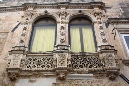 One of the beautiful balconies in Lecce