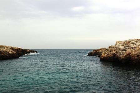 The coastline around Bari