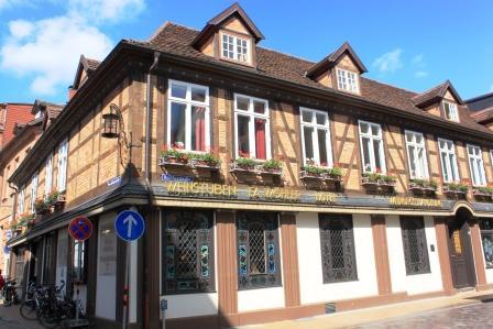 Street, houses in Schwerin