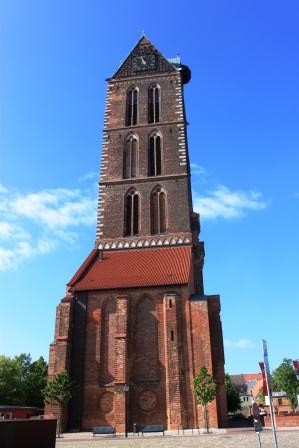 Tower of St. Mary church in Wismar
