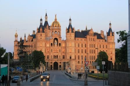 Schwerin Ducal Palace, view from the city