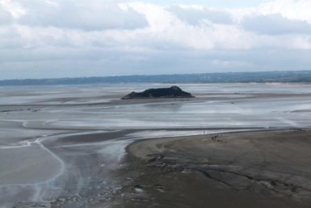 Small island nearby Mt. Saint-Michel