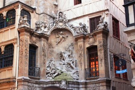 Beautiful fountain in Rouen