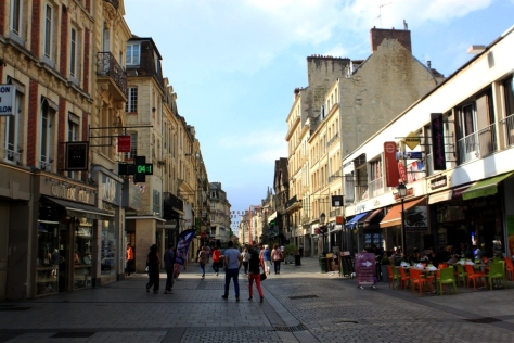 One of the main streets in Caen.