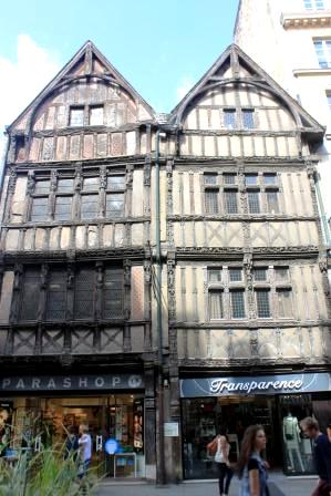 Timber-framed house from the 15th century in Caen