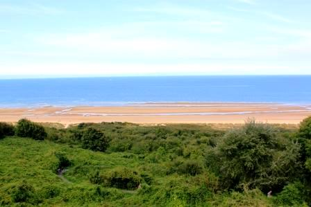 Omaha Beach, view from the hill