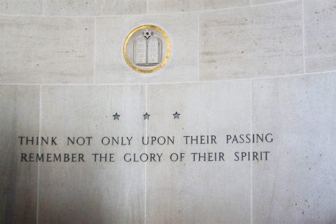 The chapel in the American Cemetery at the Omaha beach